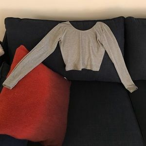 American Apparel cropped grey long sleeve